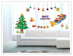 showcase sticker xmas wall sticker waterproof removable wallpaper posters décor wall decals poster decor kindergarten