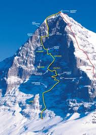 The norwand (north wall) is 6000 ft high. Eiger North Face Attempt Jerry S Insulin Challenge 2015