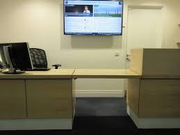 standard height reception desk