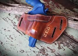 custom made custom leather holster with name or initials