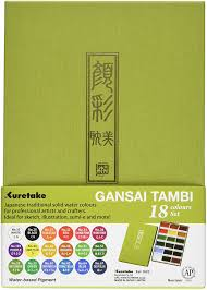 Gansai Tambi Color Chart Zig Kuretake Gansai Tambi 18 Color Set