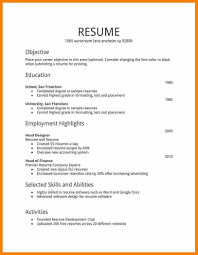 How Do You Do A Resume What Should Be In A What Do Resumes Look