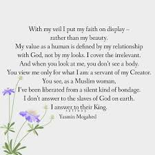 "Hijab Is My Beauty Quotes Best of Quote By Yasmin Mogahed ""With My Veil I Put My Faith On Display"