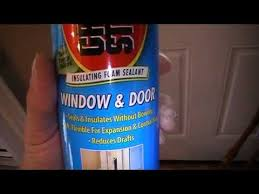 exterior spray foam sealant. how to insulate an exterior door or window frame with great stuff expanding foam spray sealant i
