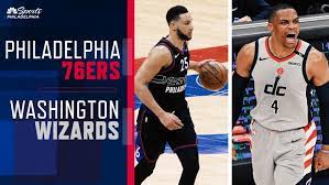 Stats from the nba game played between the philadelphia 76ers and the washington wizards on august 05, 2020 with result, scoring by period and players. T12a5 Rg3i309m