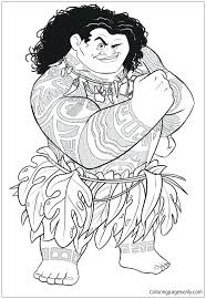 Moana Coloring Pages Printable Free From Coloring Page Free