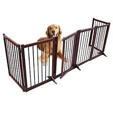 wooden dog gate for com freestanding pet 6 panel folding idea gates indoor uk