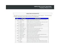 Employee Vacation Tracker Template Excel Free Sample