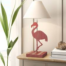 Bay Isle Home Middleburg Flamingo Wood 28 Table Lamp Reviews