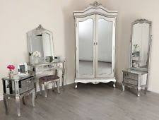 Mirrored Silver French Style Mirror Gold Shabby Chic Antique Bedroom  Furniture