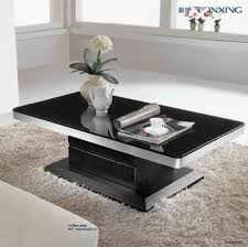 modern coffee tables black and silver rectangle glass modern coffee table sets designs tables decorate small living room ideas furniture pedestal cocktail
