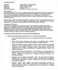 Supply Chain Management Job Description Procurement Director Jobs