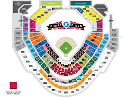chase field seating map  my blog
