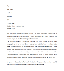 business closing letter sample closing business letter 7 documents in pdf word