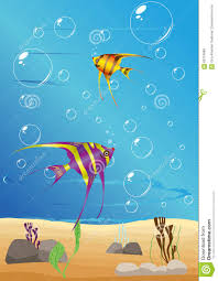 Underwater Habitat Design Submarine Stock Vector Illustration Of Bubbles Curious