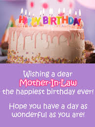Birthday Cake Cards For Mother In Law Birthday Greeting Cards By