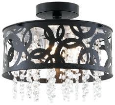 semi flush mount crystal chandelier antonia 4 light nerisa chrome black chandel