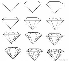 Simple Patterns To Draw Classy Draw Pattern How To Draw A Simple Diamond Gemstone Pattern Easy
