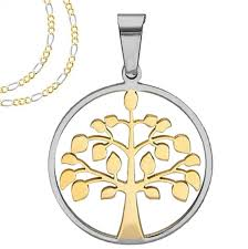 two tone gold and silver round tree of