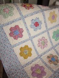 599 best Quilts, blankets & patchwork images on Pinterest & Hexagon Flowers Baby Quilt by thePATchworksshop on Etsy, $85.00 Adamdwight.com