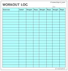Blank Weekly Workout Plan Schedule Template Free Printable Charts ...