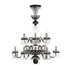 saint louis crystal arlequin 12 light chandelier colored
