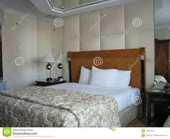 Mirror Ceiling Bedroom Room With King Size Bed And On Ceiling Mirror Stock Images Image