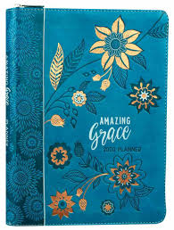 At A Glance Academic Planner 2020 17 2020 16 Month Weekly Diary Planner Amazing Grace Teal Orange Faux Ziparound