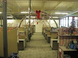 office christmas decor. Employees In Grand Canyon University\u0027s 27th Avenue Office Turned Their Digs Into A Festive Place For Christmas, With Lots Of Lights, Trees, Boughs, Christmas Decor C