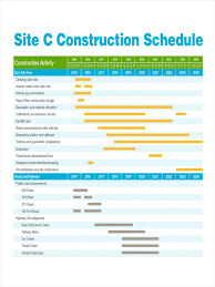 Sample Construction Timeline 24 Construction Schedule Examples Samples 3