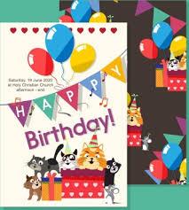 Birthday Invitation Templates Free Download Birthday Invitation Template Free Vector Download 17 376 Free