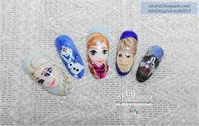 SARA NAIL: Frozen Nail Art/ Anna/ Elsa/ Olaf/ Kristoff/ Sven ...