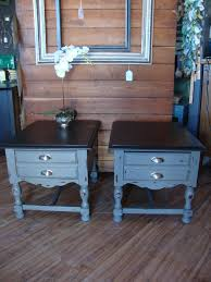 End Table Paint Ideas These Two Matching End Tables Were Painted In Maison Blanche