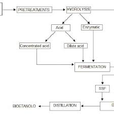 Ethanol Production Process Flow Chart Flowchart Of Ethanol Production From Lignocellulose Raw