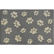 home dynamix comfy pooch gray tan paw 23 6 in x 35 4 in pet