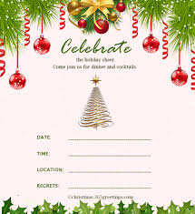 Free Christmas Invitation Template Christmas Invitation Template And Wording Ideas Christmas