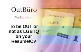 To Be Out Or Not As Lgbtq On Your Resume Cv Outbüro