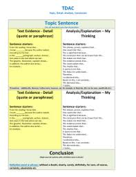 dbq evidence and analysis sentence starters sentence starters