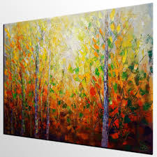 large wall paintingsAutumn Tree Painting Large Wall Art Landscape Painting Large