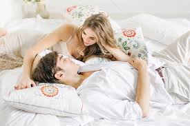 romance in bed. Fine Bed Stock Photo Portrait People House Couple Love Romance Bed On Romance In Bed E
