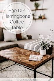 30 diy herringbone coffee tabletop