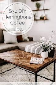 30 diy herringbone coffee tabletop