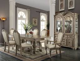 white dining room set formal. Chateau De Ville Formal Dining Room Set In Antique White E