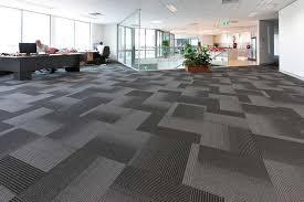 office flooring ideas. Modern Grey Carpet Tiles For Office Floor Under Rectangular Indoor Plant Pot And Desk Chairs Flooring Ideas