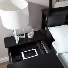 simple nightstand with charging station end table ideascharging stationsbe design
