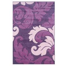linon home decor corfu collection purple and baby pink 8 ft x 10 ft
