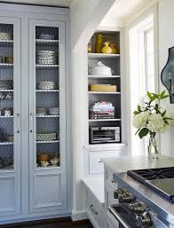Kitchen china cabinets Large Gray China Cabinet With Glass And Metal Doors Decorpad Gray China Cabinet With Glass And Metal Doors Transitional Kitchen