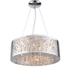 modern glam crystal bird nest pendant ceiling light