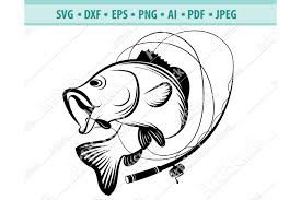Sign up for our newsletter at clipartsvg.com and get your free designs right now! Bass Fishing Svg Fishing Svg Fishing Hooks Png Dxf Eps 442568 Svgs Design Bundles