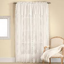 carly lace curtain panel with attached valance white rhf view all curtains